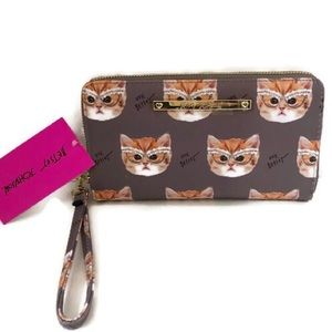 Betsey Johnson Cat Wallet/ Wristlet